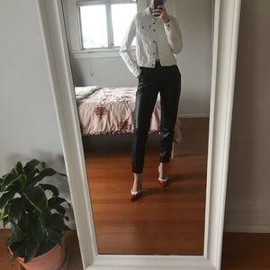 LEVI'S | white cropped jean jacket